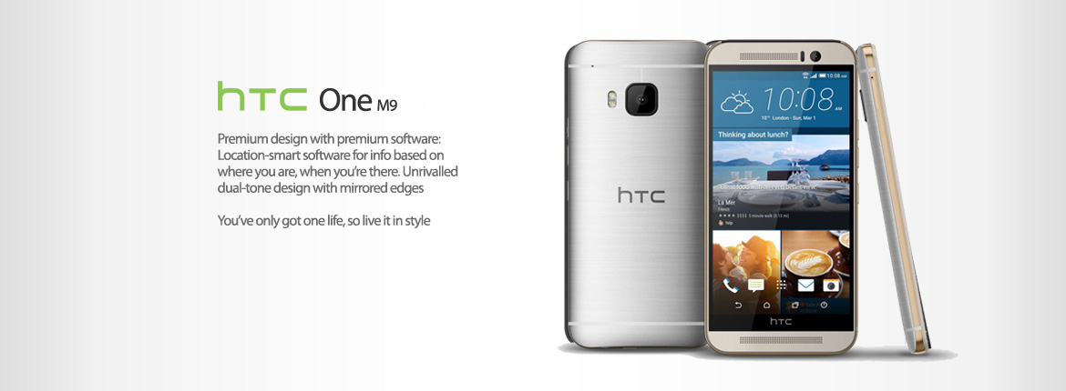 New HTC One M9 64GB Gold on Silver Unlocked